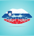 slovenia flag lipstick on the lips isolated on a vector image vector image