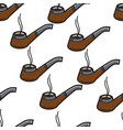 smoking pipe sherlock holmes item seamless pattern vector image vector image
