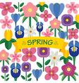 spring flower background flat design vector image vector image