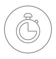 Stopwatch line icon vector image vector image