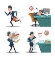 stress at work businessman with briefcase vector image