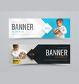 templates of black and white horizontal web vector image vector image