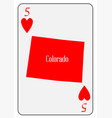 usa playing card 5 hearts vector image vector image