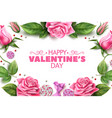 valentine day rose peony tulip flower vector image vector image
