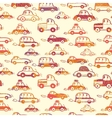 Vibrant cars seamless pattern background vector image vector image
