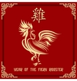 year fiery rooster vector image
