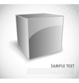 Background with silver cube vector image