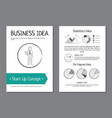 business idea and start up vector image