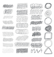 Set of hand drawn textures for your design vector image
