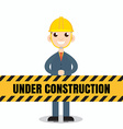 Under construction people vector image