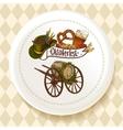 Oktoberfest Beer Set on a white plate vector image