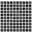 100 landscape element icons set grunge style vector image vector image