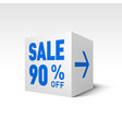 cube banner template ninety percent off discount
