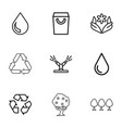 9 eco icons vector image vector image