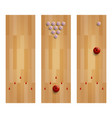 a bowling lane collection set three bowling alley vector image