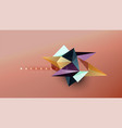 abstract background - geometric origami style vector image vector image