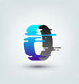 abstract colored 3d ring vector image vector image