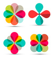 Abstract Retro Flowers Symbols Set Isolated vector image vector image