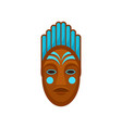 african or polynesian mask painted with blue color vector image vector image