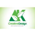 ak green leaf letter design logo eco bio leaf vector image vector image