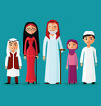 arab grandparents with grandchildren together vector image vector image