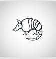 armadillo logo icon design vector image vector image
