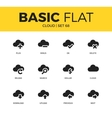 Basic set of cloud icons vector image vector image