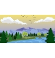 Beauty landscape with lake and mountain vector image vector image