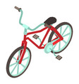 bicycle icon isometric style vector image vector image