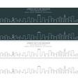 boston single line skyline banner vector image