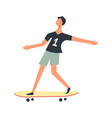 boy ride skateboard child happy time vector image vector image