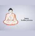 buddhists festival buddha purnima vector image vector image