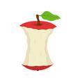 cartoon stub of apple garbage of fruit vector image