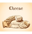 Cheese sketch poster vector image vector image