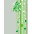 christmas tree stripes vector image vector image