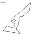 circuit of the americas vector image vector image