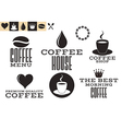 Coffee Icons and labels vector image vector image
