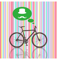 Colorful Vintage Bicycle vector image