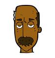 comic cartoon bored old man vector image vector image