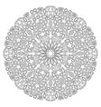 Decor floral gem mandala vector image
