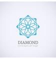 Diamond logo isolated on white vector image vector image