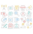 digital marketing icons vector image vector image
