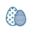egg easter chocolate vector image