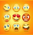 emoji and sad icon set collection vector image vector image