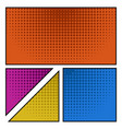 empty colored comic page vector image