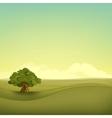 field landscape vector image