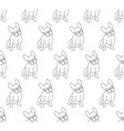 french bulldog on white background vector image vector image