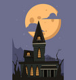 halloween background scary horror castle vector image