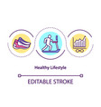 healthy lifestyle concept icon vector image