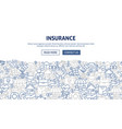 insurance banner design vector image vector image